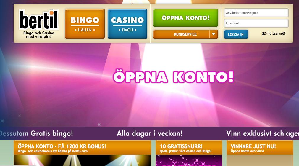 bertil bingo hemsida
