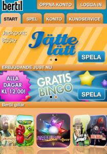 bertil bingo i mobilen
