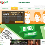 PAF Bingo hemsida