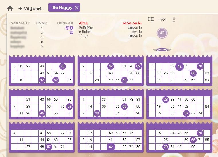 spel i bingoklienten