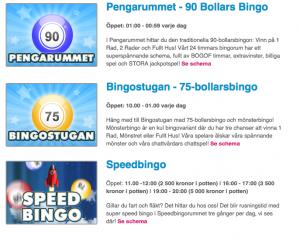 Svenska bingo bingorum