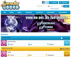 Svenska bingo hemsida
